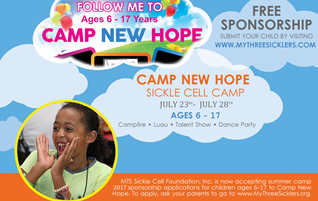 SICKLE CELL CAMP 2017 SPONSORSHIP APPLICATION