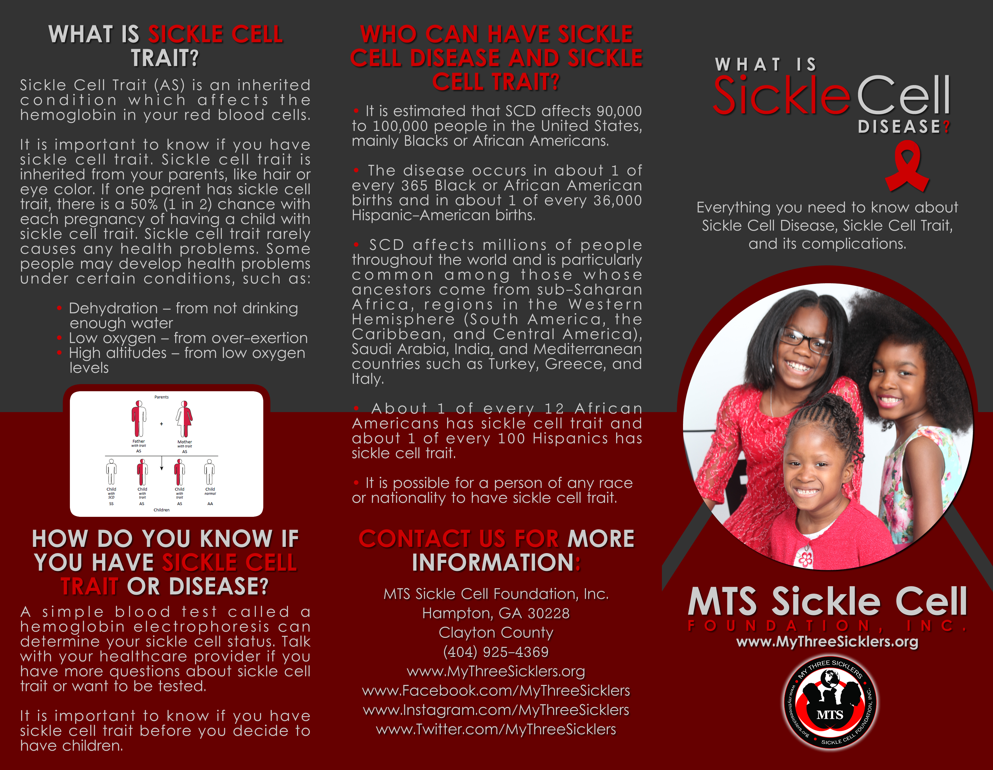 Sickle Cell Information Brochure Mts Sickle Cell
